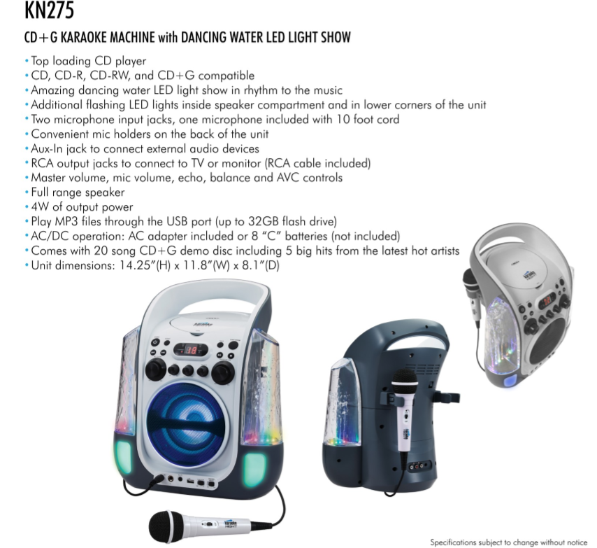 33578 - BRAND-NEW KARAOKE MACHINE BY KARAOKE NIGHT CLOSEOUT USA