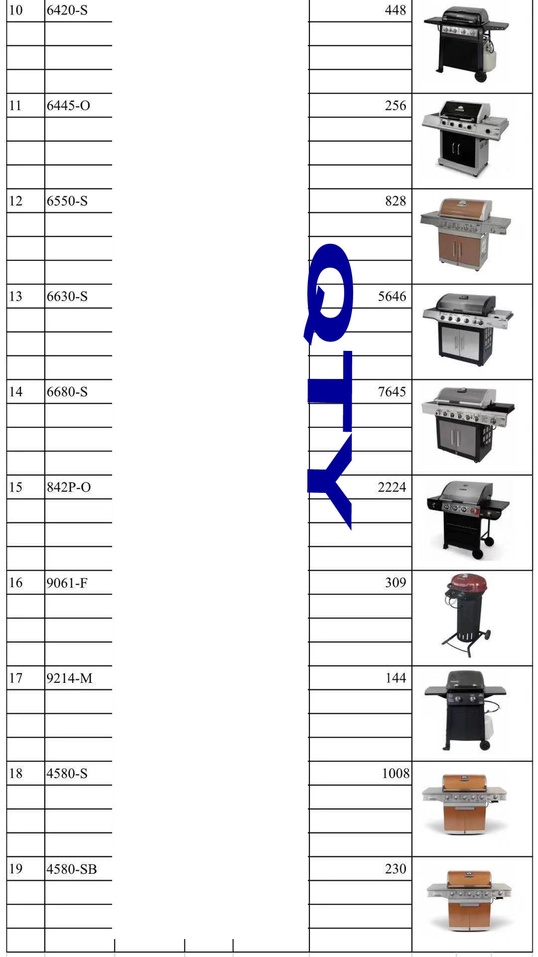 34936 - Barbecue machine China