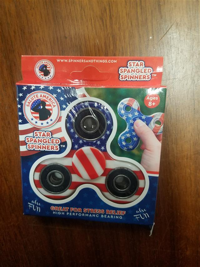 35118 - Patriotic Fidget Spinners For Impeachment Or Political Campaigns USA