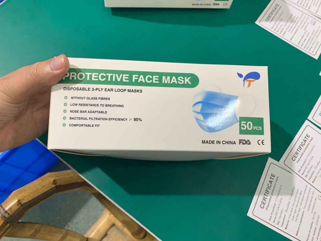 36317 - 3 Ply Protective Face Mask FDA Approved USA