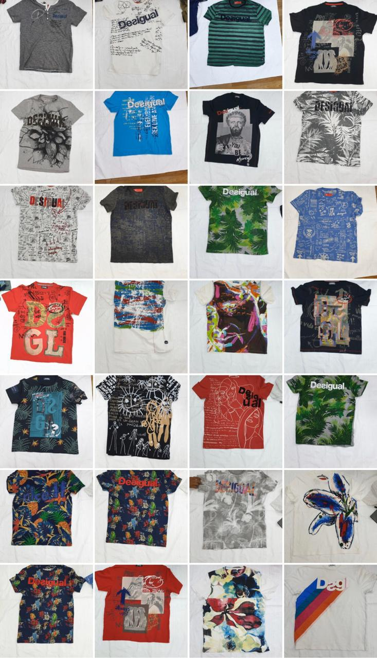 37661 - DESIGUAL Men's Half and Long Sleeves T.Shirts India