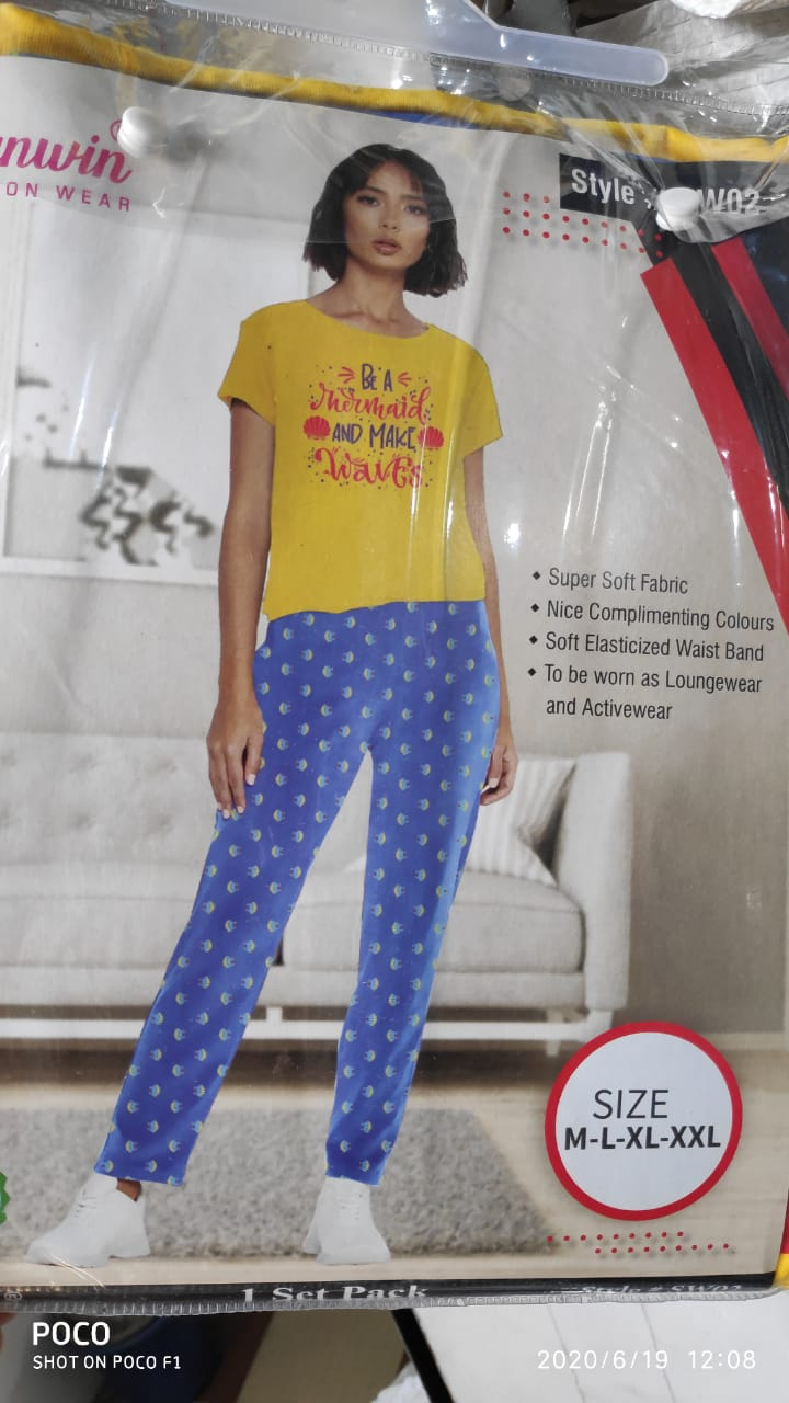 37688 - LADIES PYJAMA SET Shipment pack India