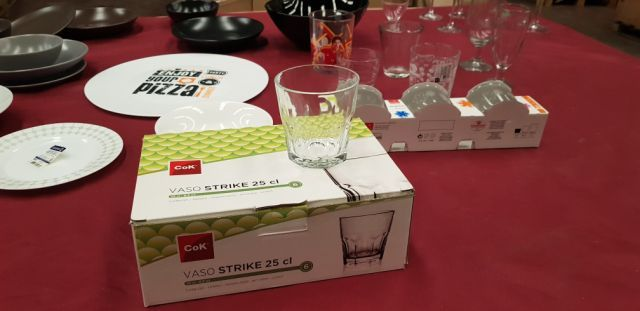 37706 - STOCK VARIOUS HOUSEHOLD: DISHES, GLASSES, ETC. Europe