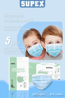 38088 - SUPEX 3Ply Children's Disposable Protective Mask USA