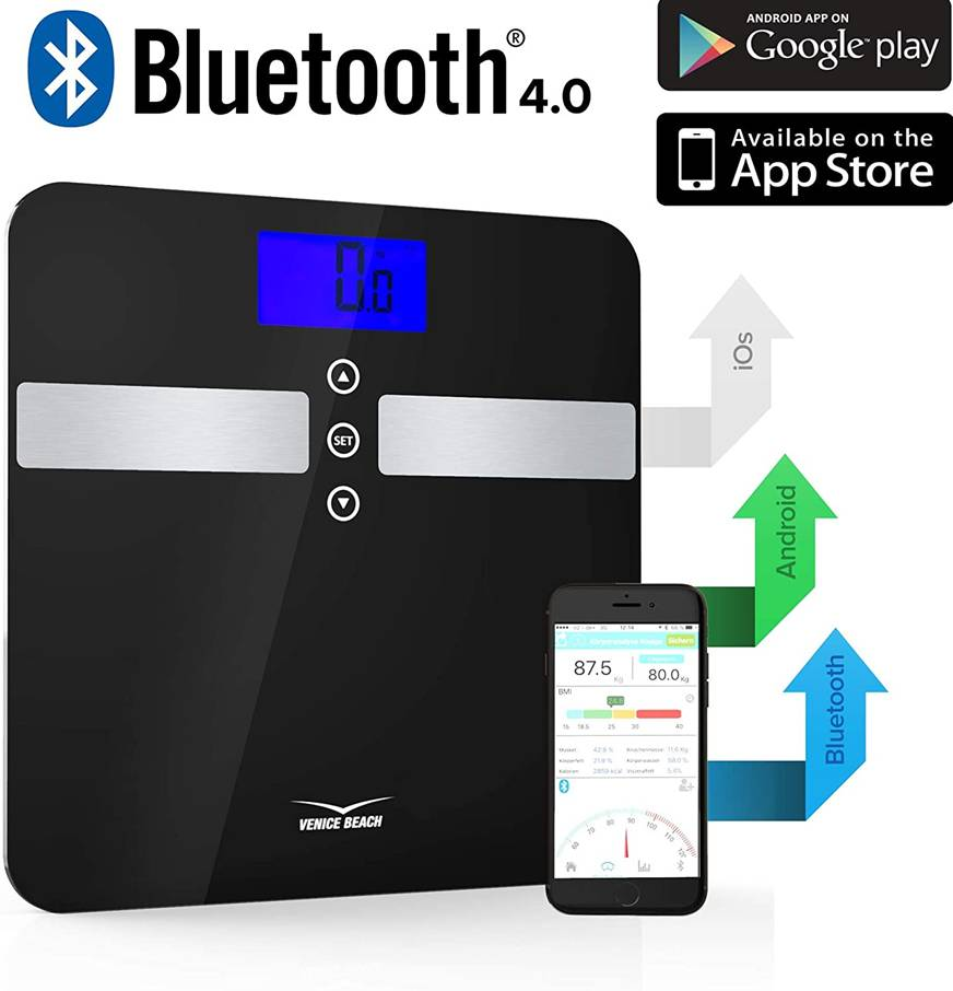 39661 - VENICE BEACH Bluetooth body analysis scale Europe