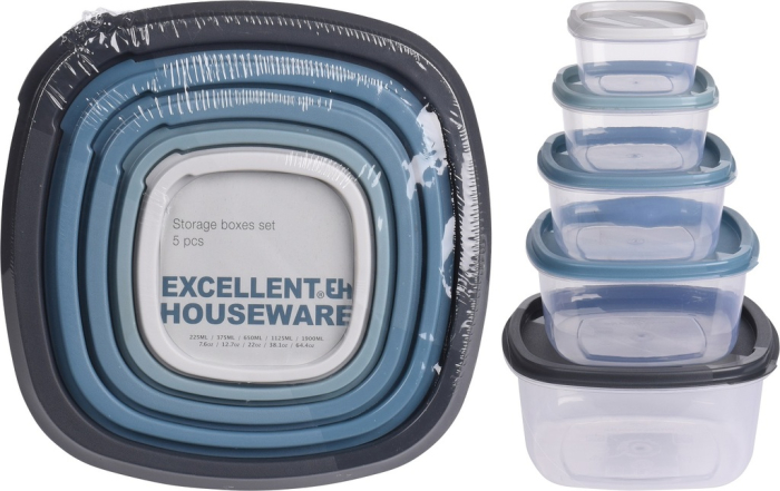 39991 - Excellent Houseware storage jars set of 5 Europe